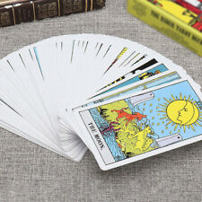 78PCS Vintage Tarot Cards Deck Antique High Quality Colorful Card Box Rider Game