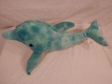 "Sea World Blue Bottlenose Dolphin Plush 18"" Toy Factory"