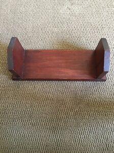 Antique Wood Book End Holder