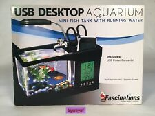 Fascinations USB Desktop Aquarium Brand new in box Think Geek Office Fish Tank
