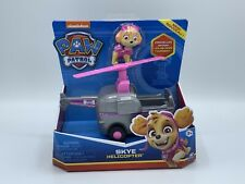 Paw Patrol Helicopter Vehicle SKYE Figure Moving Propeller Good Gift NEW FREE SH