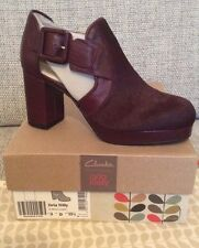 Orla Kiely Clarks, Dilly Ox Blood Shoes Size 3, EUR 35.5, Retro, Vintage