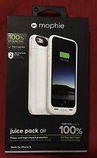 Authentic Mophie Juice Pack Air 2750mAh White Case - iPhone 6 / 6s - Retail $99