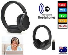 Cordless Stereo Headphones Wireless Headset USB Earphone TV FM PC MP3 Headphone