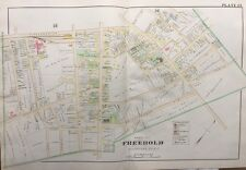 ORIGINAL 1905 MONMOUTH COUNTY, NEW JERSEY, FREEHOLD INSTITUTE, PLAT ATLAS MAP