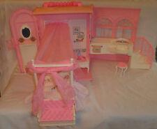Barbie princess close & go fold out bedroom set furniture handle 1998