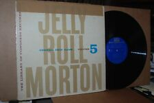JELLY ROLL MORTON VOLUME 5: GEORGIA SKIN GAME; 1957 RIVERSIDE 9005 VG++ LP