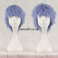 UK seller Jack Short layered fluffy spikeable cosplay wig fuchsia hot pink