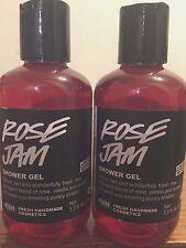 LUSH Handmade Cosmetics ROSE JAM Shower Gel Lot of Two 3.3 oz NEW
