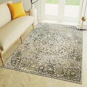 Super Area Rugs Contemporary Modern Medallion Area Rug in Ivory