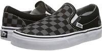 Vans Classic Grey Black Canvas Unisex Slip-on Trainers Shoes