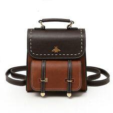 Little Bee Vintage Leather Women Backpack Simple Ladies Designer Bag NEW Fashion