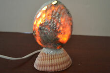 GREEN ABALONE SEA SHELL TABLE LAMP NIGHT LIGHT #S7-497