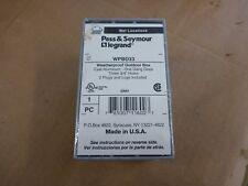 """P&S WPBD33 1-Gang Deep Weatherproof Box 3-Hole 3/4"""" Pass & Seymour Lot Of 6"""