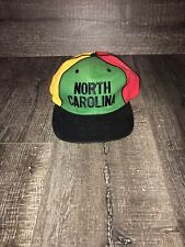 Vtg North Carolina Rasta colors Snapback Hat 🔥