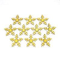 10 Schneeflocken aus Holz, 7cm,  10er Set, Weihnachten, Geschenk, Tischdeko