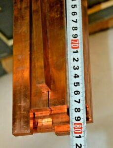 Kupfer Flachmaterial Kupferschiene Platte Stromschiene 10mm x 20mm ~780mm (PX)
