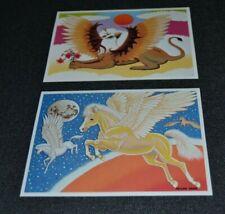 Vintage Pegasus & Griffin Note Cards Designed by Megan Dana Mythology Eagle Lion