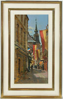 Richard Price ROI (b.1962) - Signed and Framed Oil, Towards the Spire