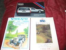 VINTAGE VOLVO hanbooks anni 1980 VOLVO Estate driver manuali, ecc.