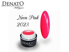 Neon Pink 5ml UV LED Gel Nails File Off Colour Gel Perfect Pigmentation Denato
