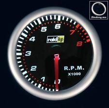 """Drehzahlmesser Instrument 52mm Raid Night Flight Chrono DZM Anzeige 2"""" RPM Gauge"""