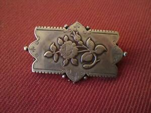 Antique Victorian 1885 Aesthetic Movement William Twigg Silver Rose Brooch