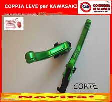 KAWASAKI z800 LEVE FRENO FRIZIONE regolabili corte VERDE Z 800 2013 14 15 16