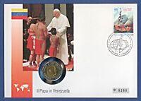 Numisbrief Vatikan Papst Venezuela 500 L Johannes Paul Stemp 1997 #0260 NBA8/2a