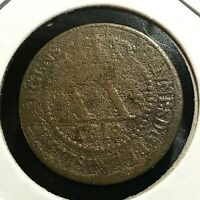 1818 BRAZIL 20 REIS WORN BUT COLLECTABLE COIN
