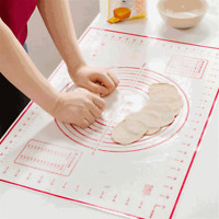 Non-Stick Silicone Dough Rolling Mat Baking Mat Pastry Clay Pad Sheet Liner US