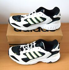 NEW Vintage Adidas Grind Fitness Trainers (White, Black, Blue, Green) UK 10 RARE