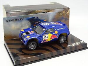 Minichamps 1/43 - VW Race Touareg N° 204 Rally Paris Dakar 2004