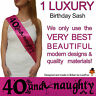 40TH BIRTHDAY GIRL PARTY SASH NIGHT OUT ACCESSORY GIRLS SASHES FORTY FUN 40 TH