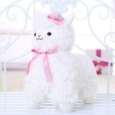 "Japan Amuse Arpakasso Alpacasso 14"" White Adorable Alpaca Plush Toy With Hat"