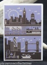 "London Vintage Travel Poster - 2"" X 3"" Fridge / Locker Magnet. England UK"