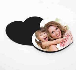 Personalised Photo Fridge Magnet Heart Shaped Mothers Day Gift Mum Grandma