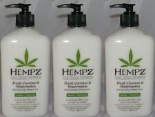 HEMPZ COCONUT & WATERMELON HERBAL BODY MOISTURIZER TAN EXTENDER (3) + FREE SHIP