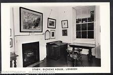 London Postcard - The Study, Dickens House    C146
