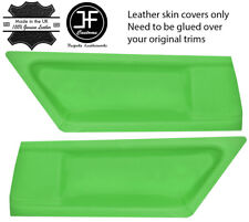GREEN REAL LEATHER 2X REAR DOOR CARD COVERS FITS BMW 3 SERIES E36 COUPE 91-98