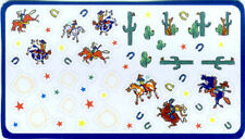 WESTERN THEME wall stickers 59 decals cowboys cactus horseshoe rodeo horse lasso
