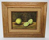 Signed, Still Life Oil, Lime Framed Painting Art