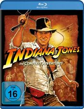 INDIANA JONES BOX (HARRISON FORD, KAREN ALLEN,...)  4 BLU-RAY NEU