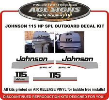 1997 1998 JOHNSON 115 HP SPL Outboard Decal kit reproductions  also 90 hp