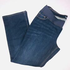Old Navy Womens Maternity Jeans Sz 18 Dark Blue Elastic Waistband Dark Plus QK50