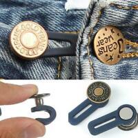 Jeans einziehbarer Knopf verstellbare Taille ersetzen Nähen Befestigungssat Y2I4