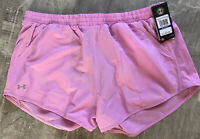 Under Armour Running Heat Gear Active Shorts Pink Size XL NWT 💫💫