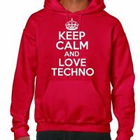 Keep Calm And Love Techno Sudadera Con Capucha