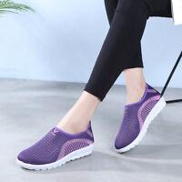 Unisex Women Men Athletic Breathable Sneaker Slip On Sport Casual Loafer Shoes