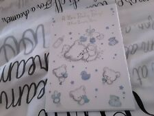 New baby boy greeting card - bears - BNIP